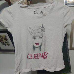 Barbie size small queen b. Crop top